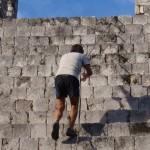 Pete on a climb