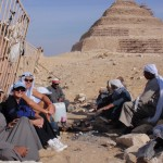 Invited for a cuppa with the locals at Saqqara