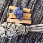 Smudge Stick, Palo Santo & Sodalite Tumbled Stone